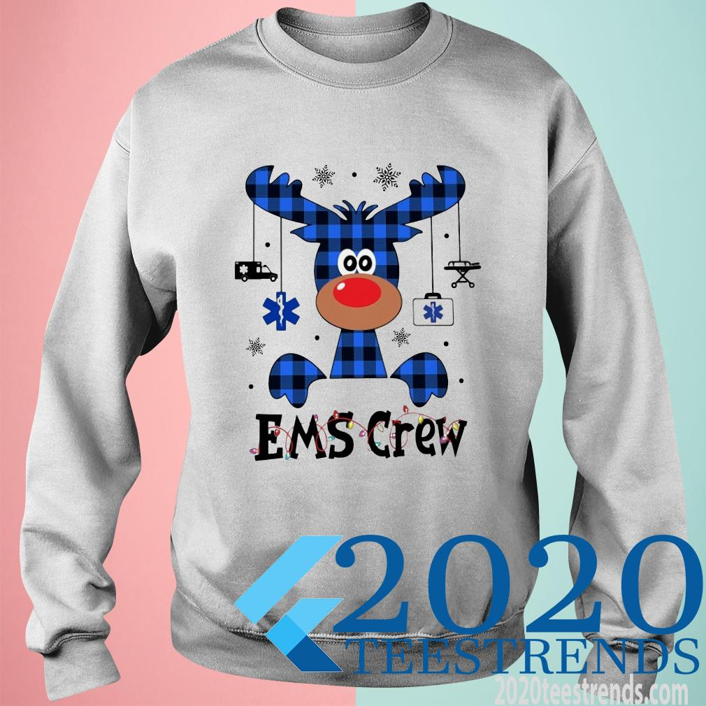 Ems Crew Christmas Reindeer With Gift Sweater