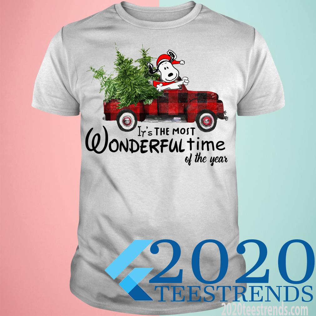 Snoopy Truck It's The Most Wonderful Time Of The Year Christmas Sweatshirt
