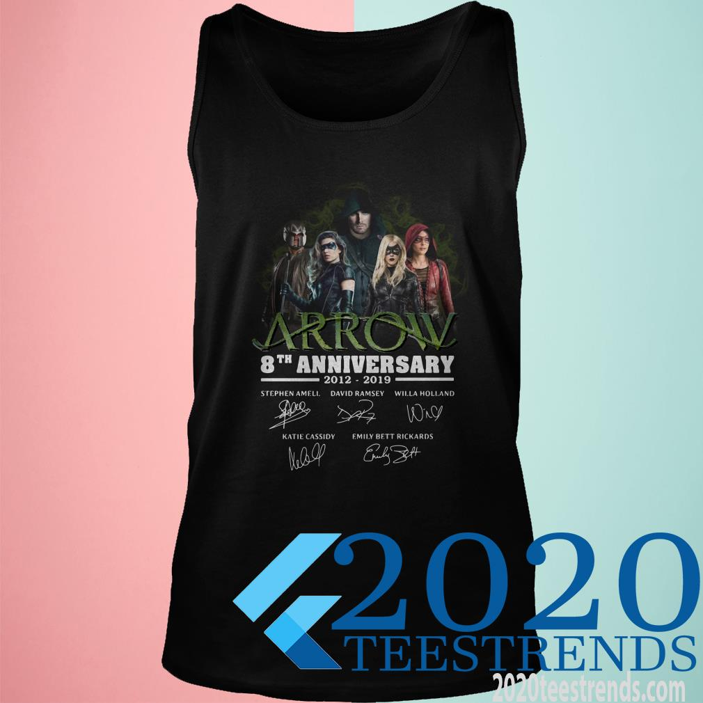Arrow 8th Anniversary 2012-2019 Signatures Shirt