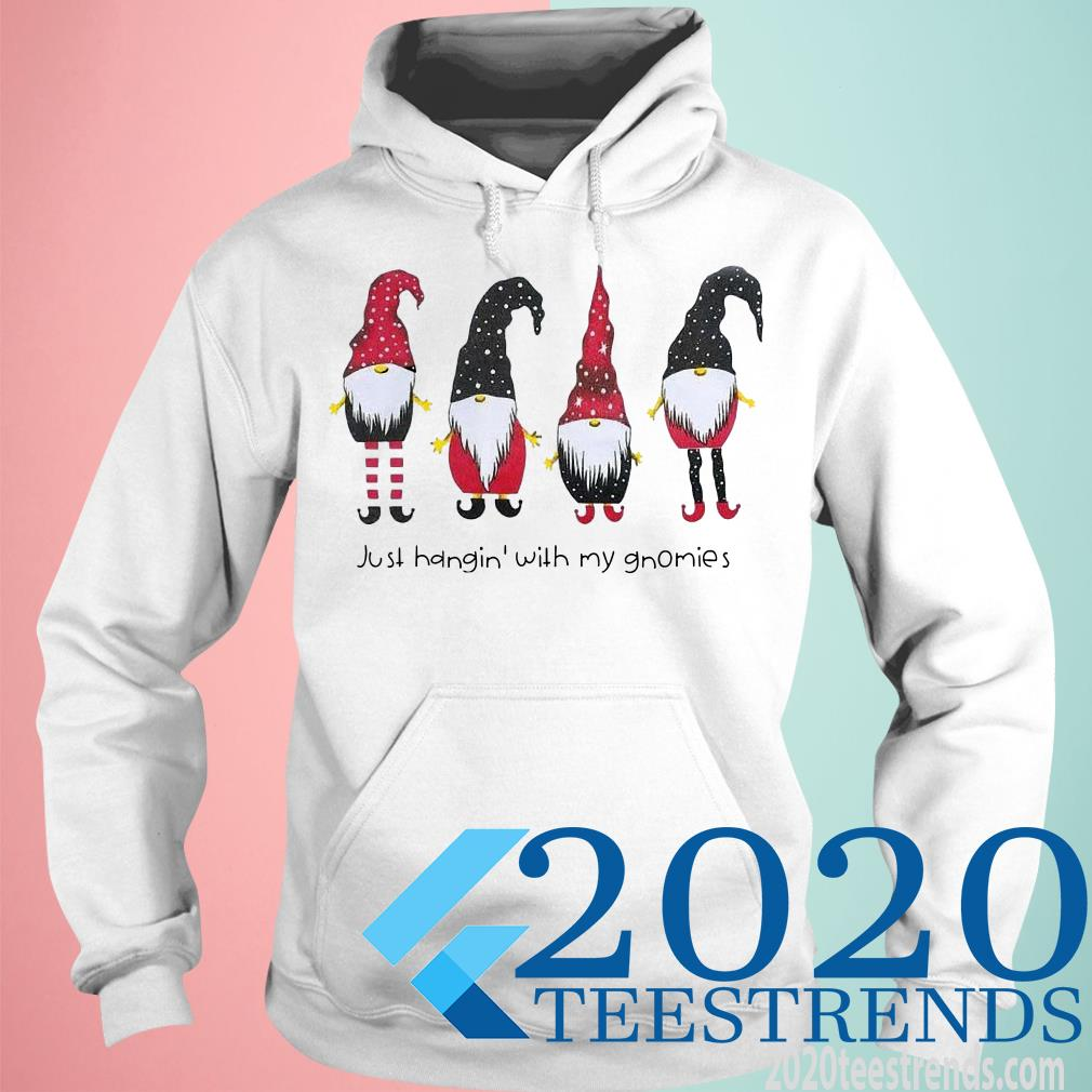 Just Hangin With My Gnomies Funny Christmas Dwarf Gift Sweater