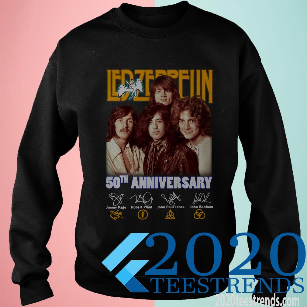 Led Zeppelin 50th Anniversary Signature Shirt