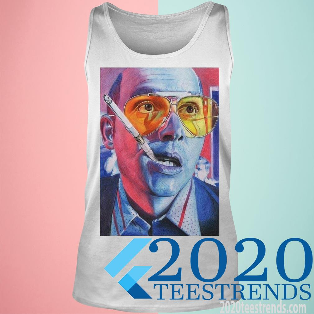 Official Hunter S Thompson Smoking Shirt