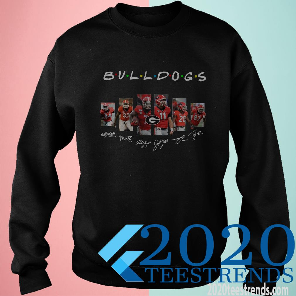 Georgia Bulldogs Football Friends Tv Show Signatures Shirt