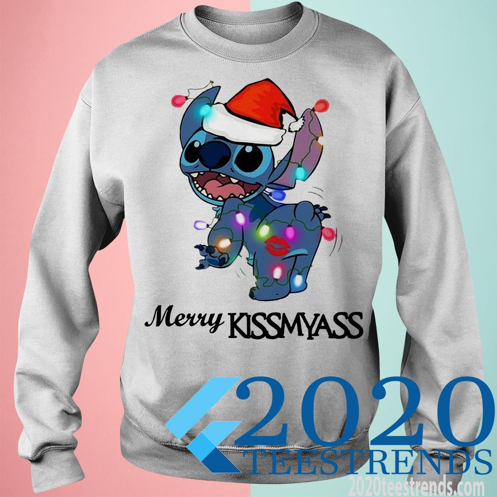Stitch Santa Merry Kissmyass Sweater