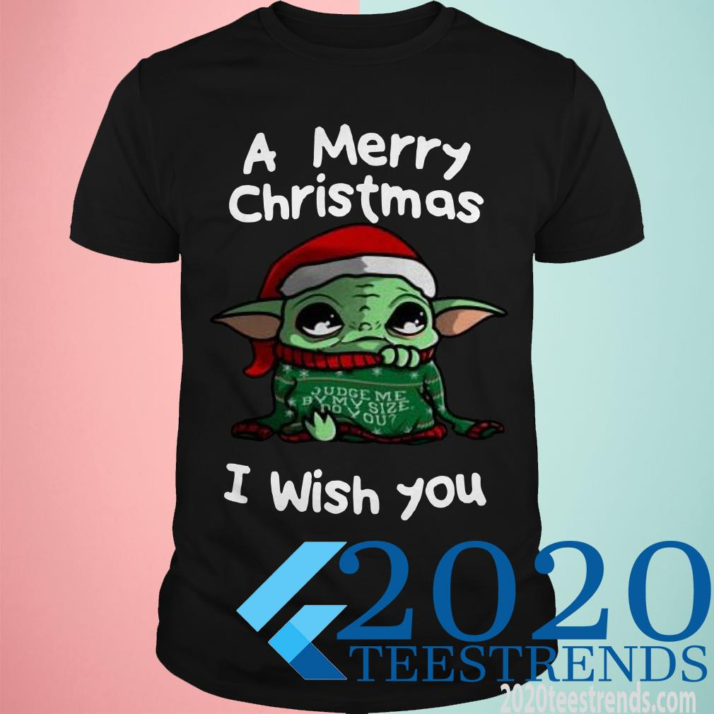 Baby Yoda A Merry Christmas I Wish You Sweater