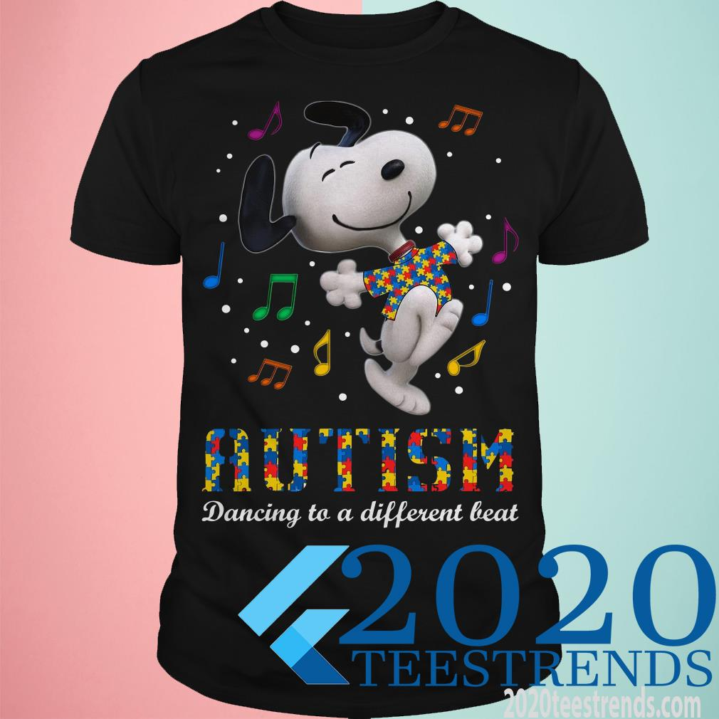 Snoopy Autism Dancing To A Different Beat T-Shirt