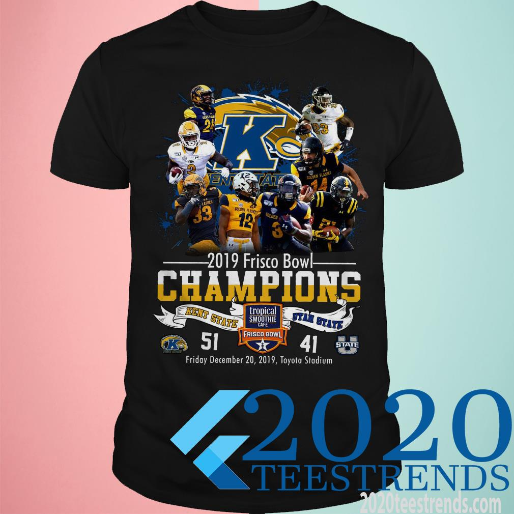 2019 Frisco Bowl Champions Kent State Vs Utah State Tropical Smoothie Cafe T-Shirt