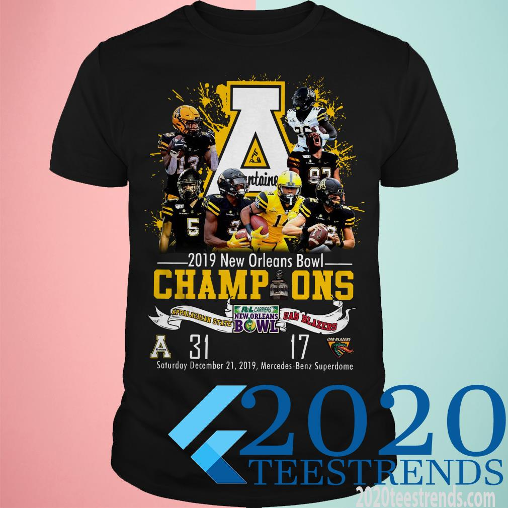 Appalachian State Mountaineers 2019 New Orleans Bowl Champions T-Shirt