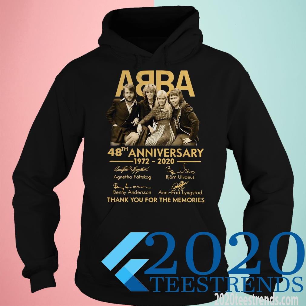Abba 48th Anniversary 1972 2020 Thank You For The Memories Signatures T-Shirt