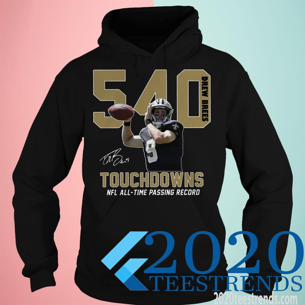 540 Drew Brees Signature Nfl All Time Passing To Record T-Shirt