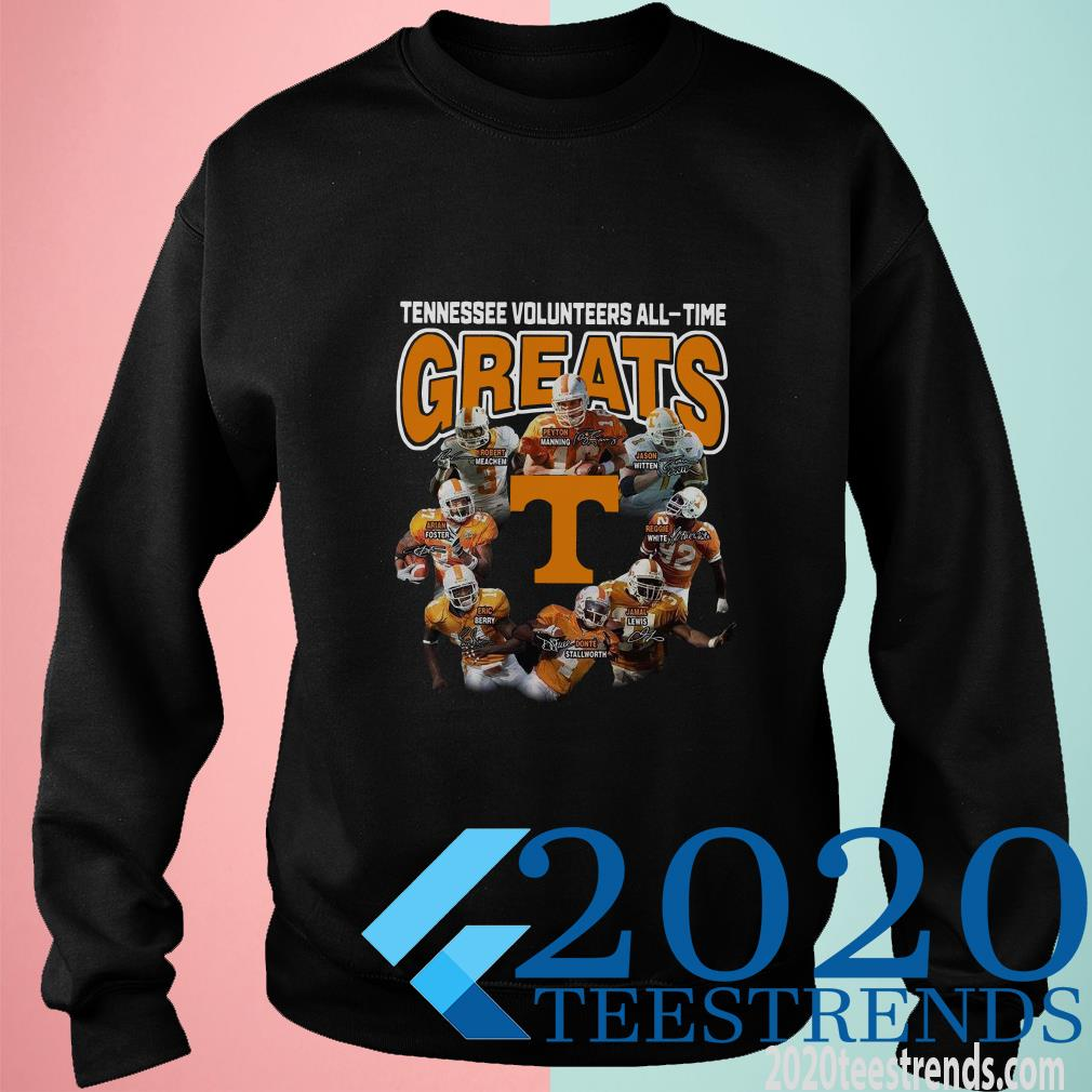 Tennessee Volunteers football All-time Greats Players Signatures Sweater
