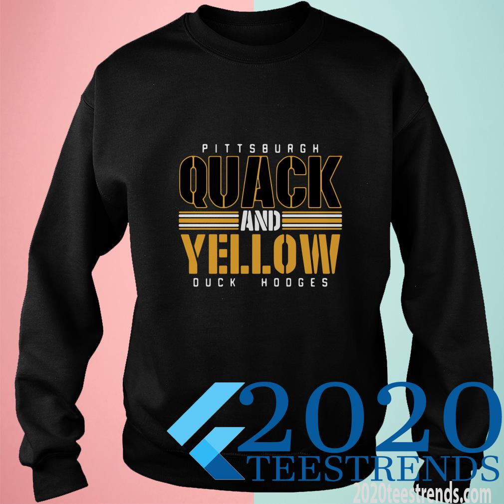 Devlin Duck Hodges Pittsburgh Quack And Yelow Duck Hodges Sweater
