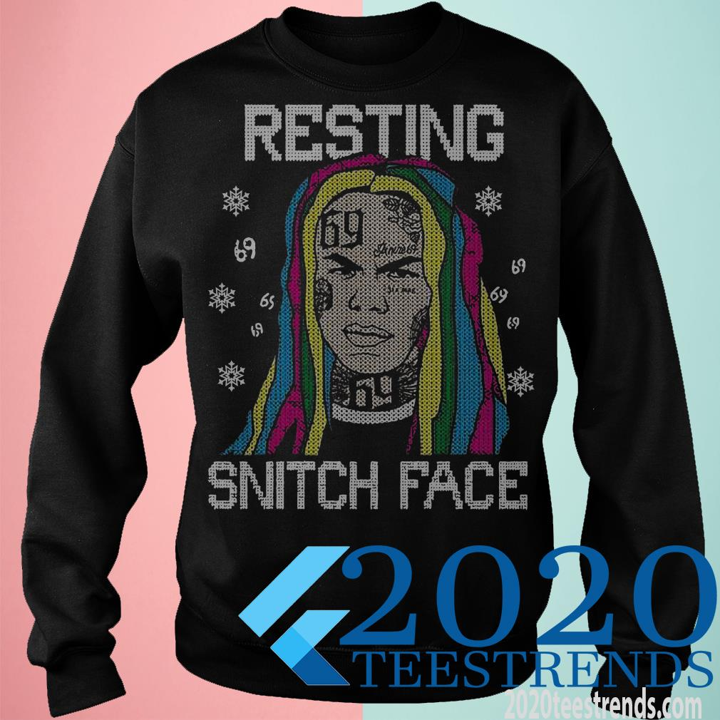 Tekashi69 Resting Snitch Face Ugly Christmas Sweater