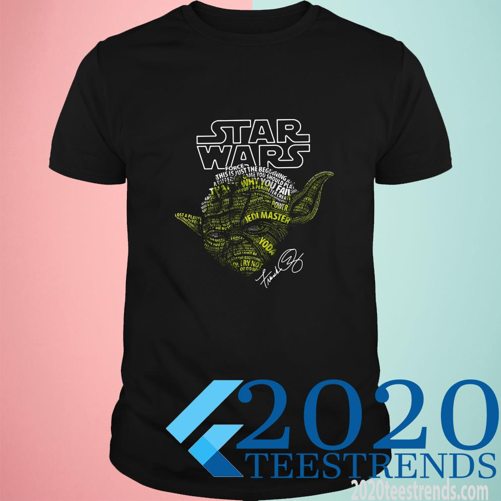 Yoda Star Wars Force This Is Just The Beginning Signature T-Shirt