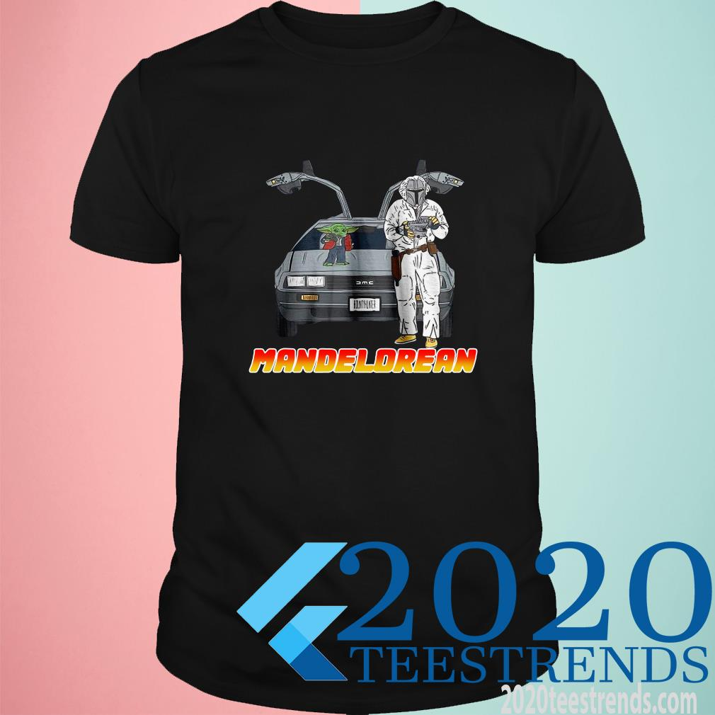 Baby Yoda And Boba Fett Mandelorean T-Shirt