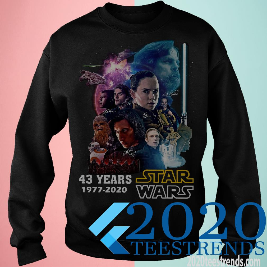 43 Years Of Star Wars 1977 2020 Characters T-Shirt