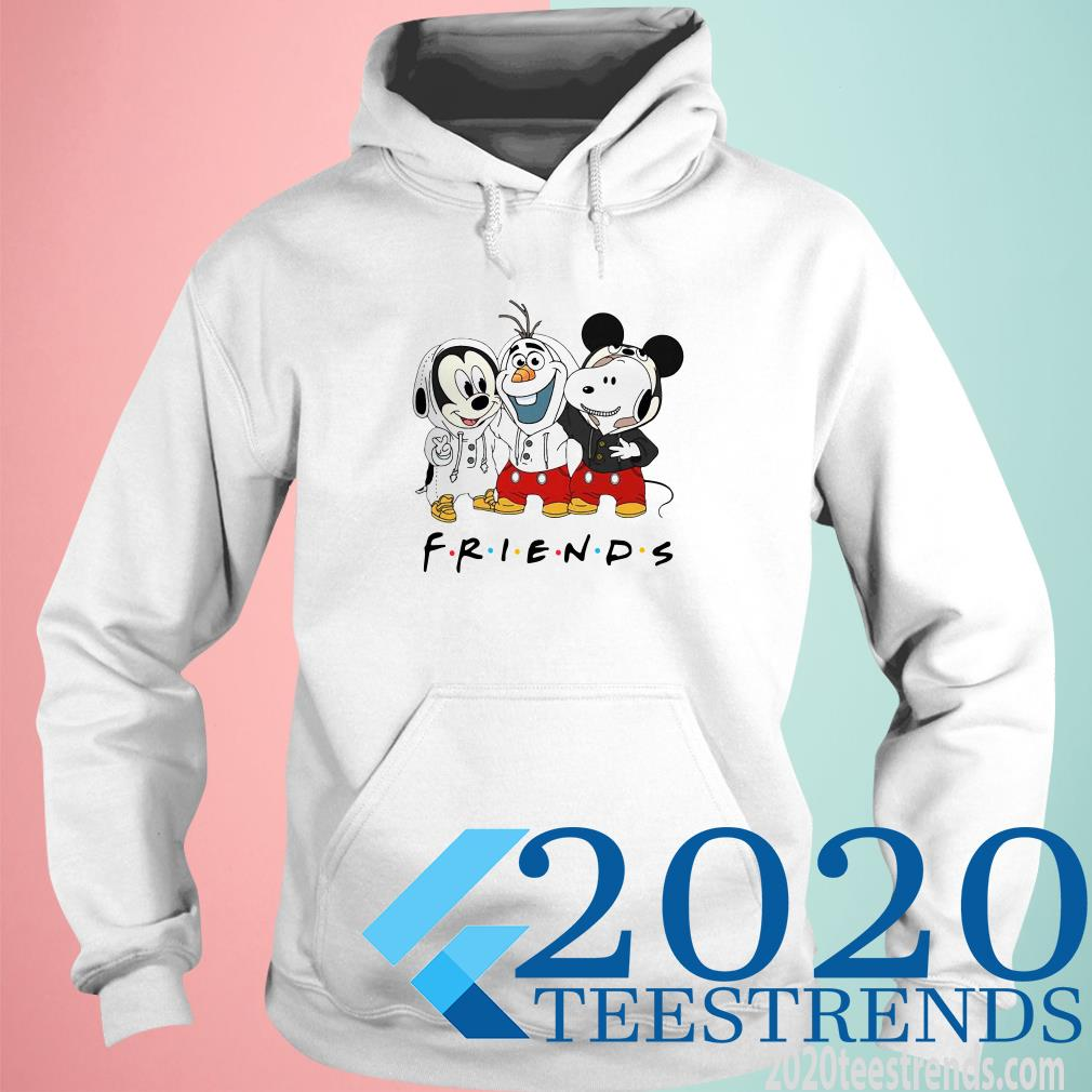 Mickey Olaf And Snoopy Friends Hoodie