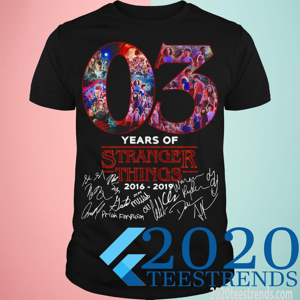 03 Years Of Stranger Things 2016 2019 Signature T-shirt