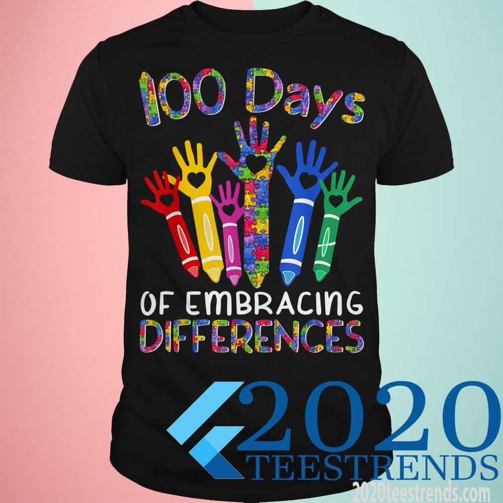 100 Days Of Embracing Differences Iep 100th Day Of School Shirt