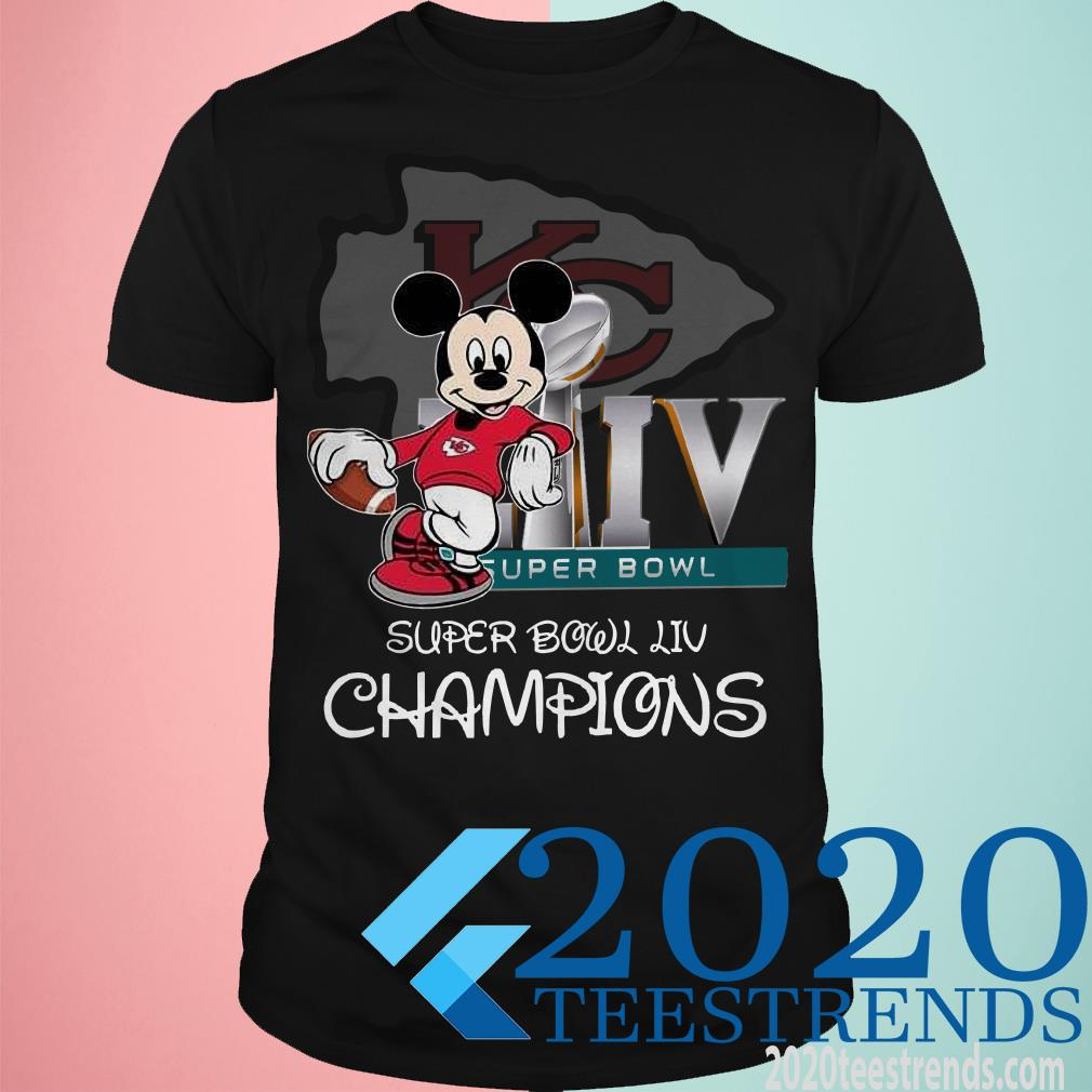 Mickey Mouse Super Bowl Liv Champions Shirt