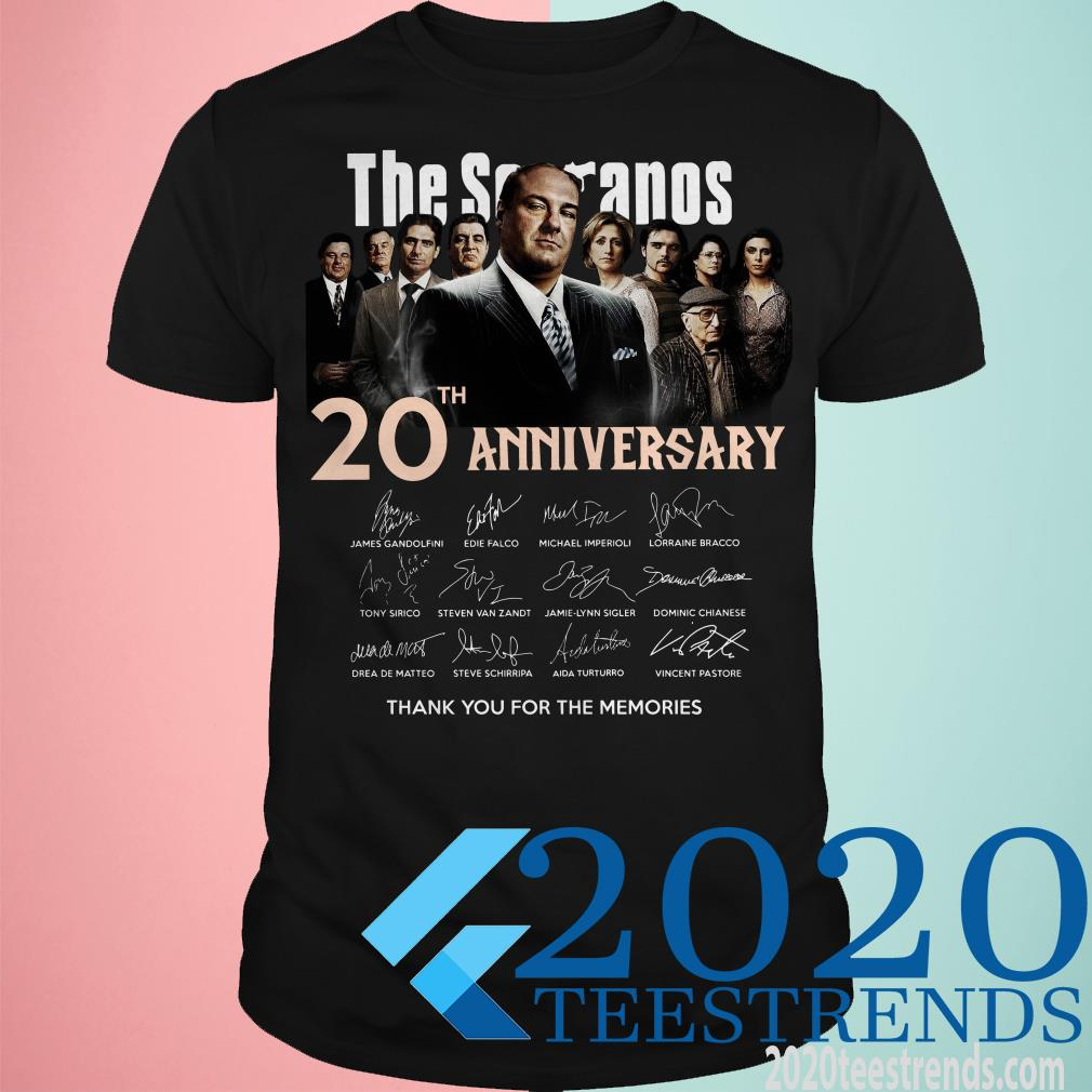 The Sopranos 20th Anniversary Thank You For The Memories Signatures Shirt