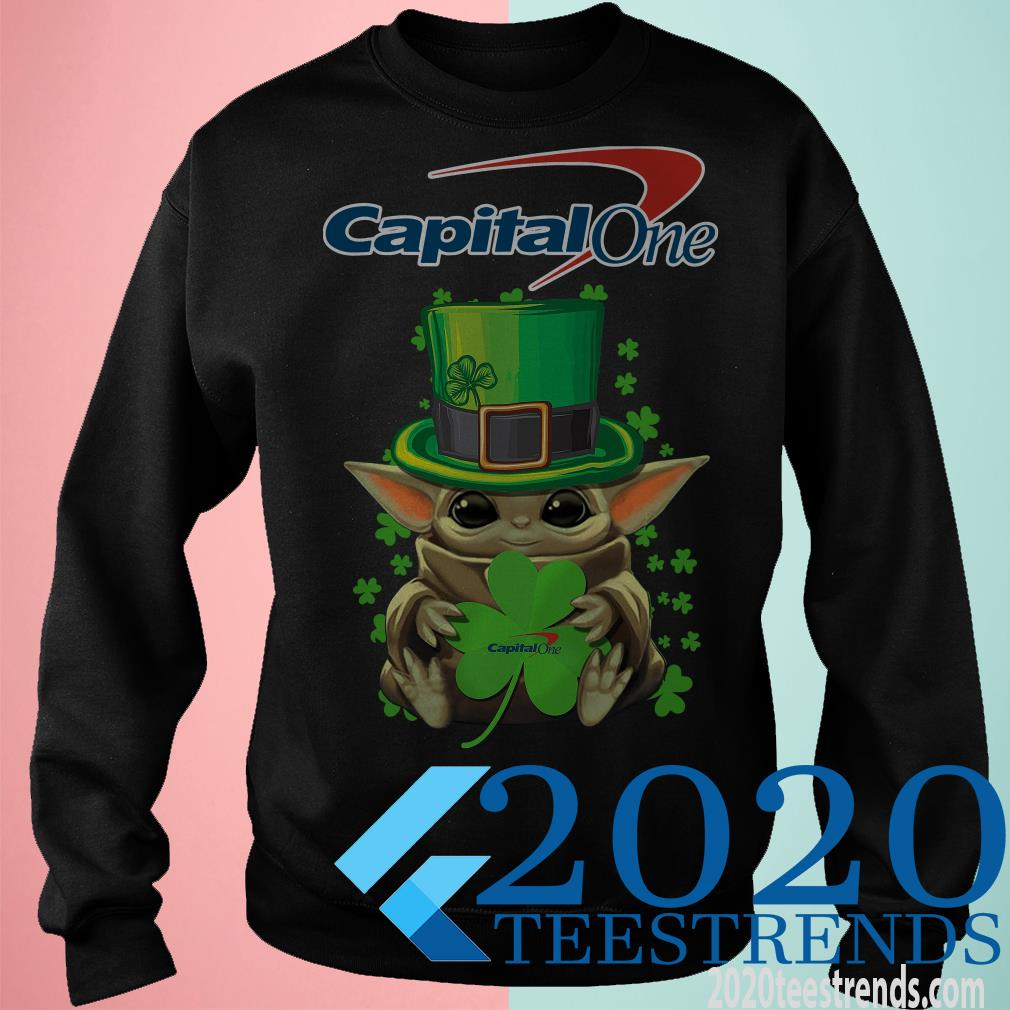 Baby Yoda Capital One Shamrock St.Patrick's Day Shirt