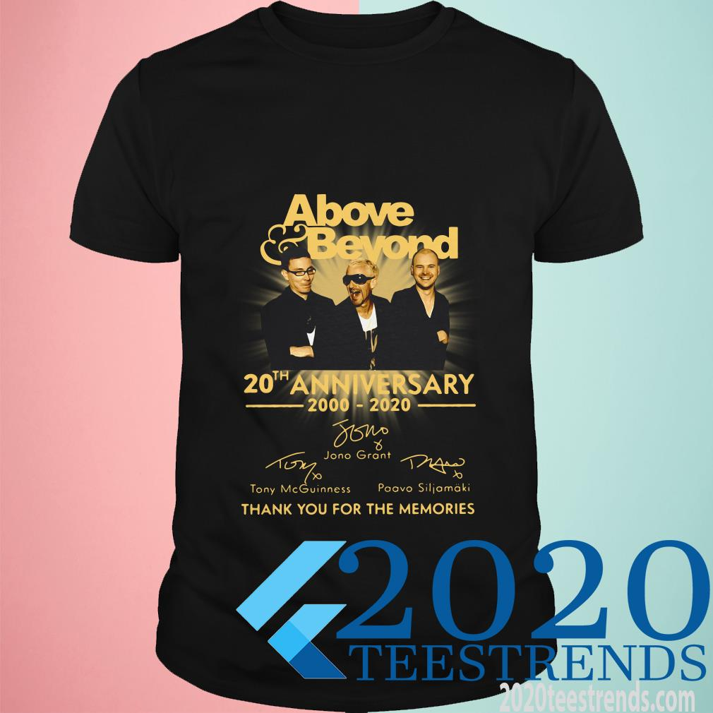 Above Beyond 20th Anniversary Thank You For The Memories Shirt