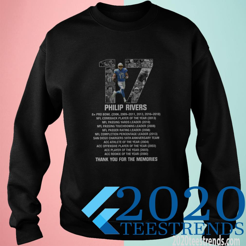 17 Philip Rivers Thank You For The Memories Shirt