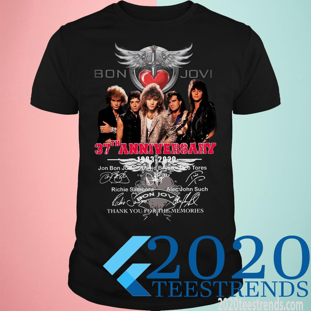 Bon Jovi 37th Anniversary 1983-2020 Thank You For The Memories Shirt