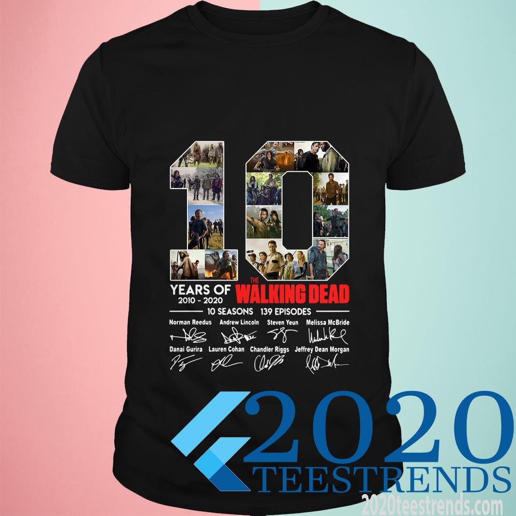 10 Years Of The Walking Dead 10 Seasons 139 Episodes Signatures Shirt