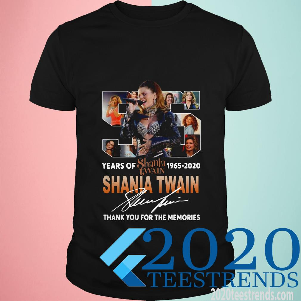 Shania Twain With Come On Over Album 55th Years Of 1965-2020 Signature Shirt