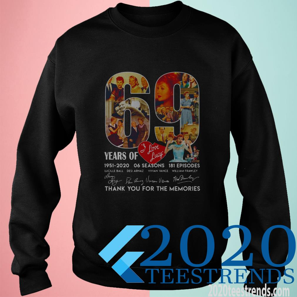 I Love Lucky American Television Sitcom 69th Years Of 1951-2020 Signature Shirt