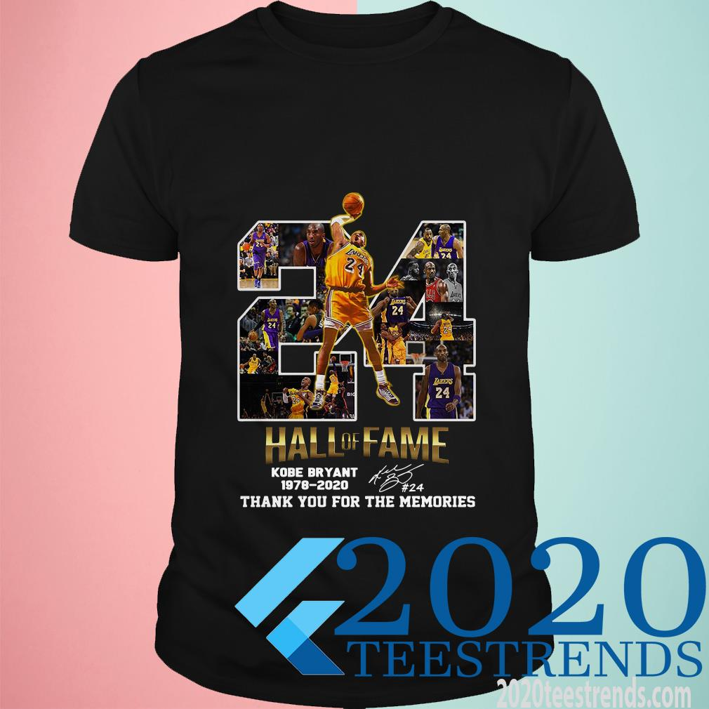 24 Hall Of Fame Kobe Bryant 1978 2020 Thank You For The Memories Signatures Shirt