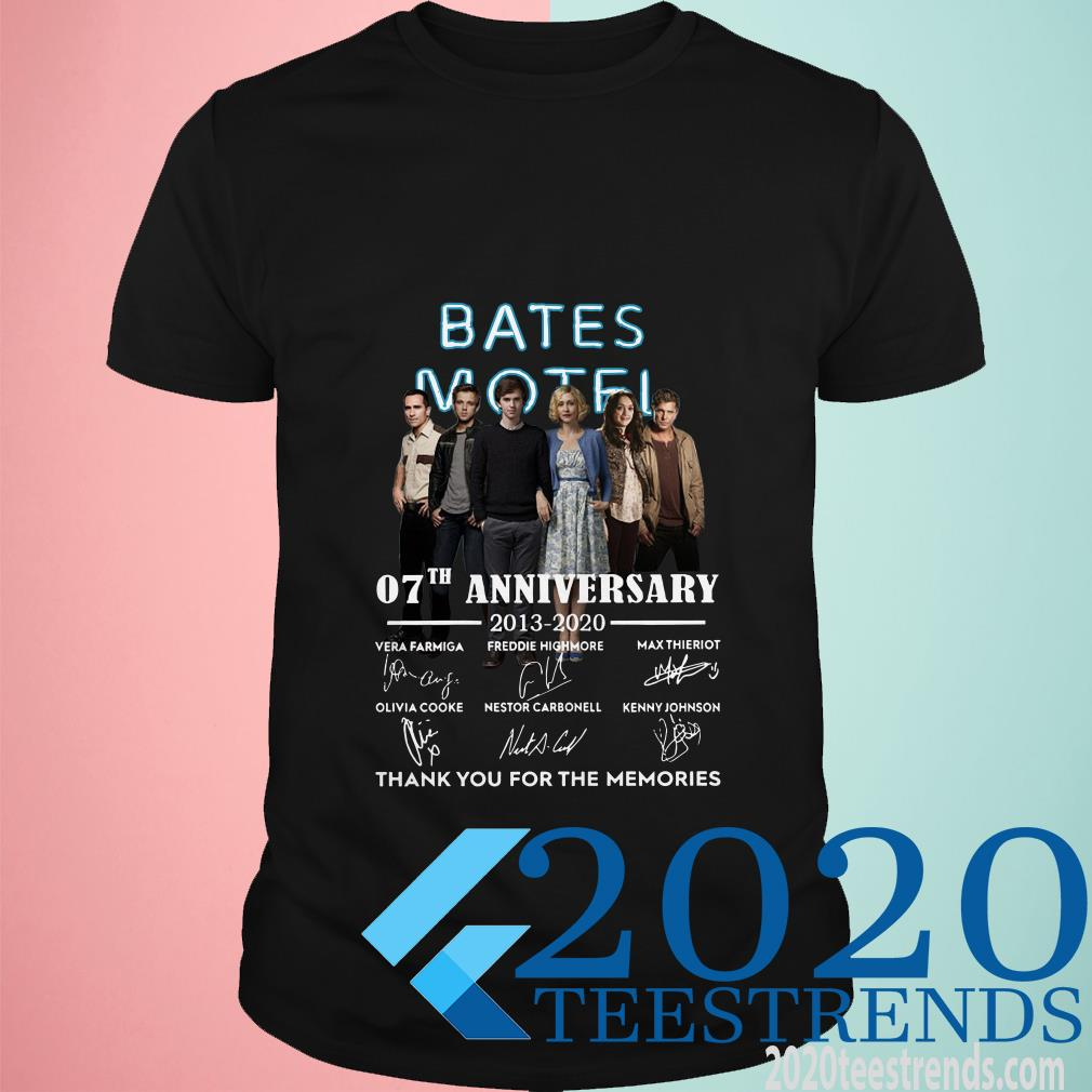 Bates Motel 07th Anniversary 2013-2020 Signatures Thank You For The Memories Shirt