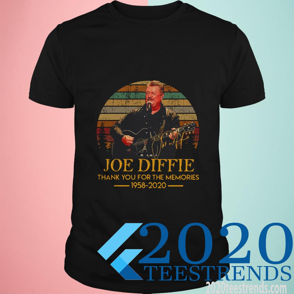 Joe Diffie Thank You For The Memories 1958 2020 Vintage Shirt