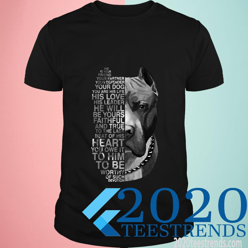 Pitbull He Is Your Friend Your Partner Youe Defender Shirt