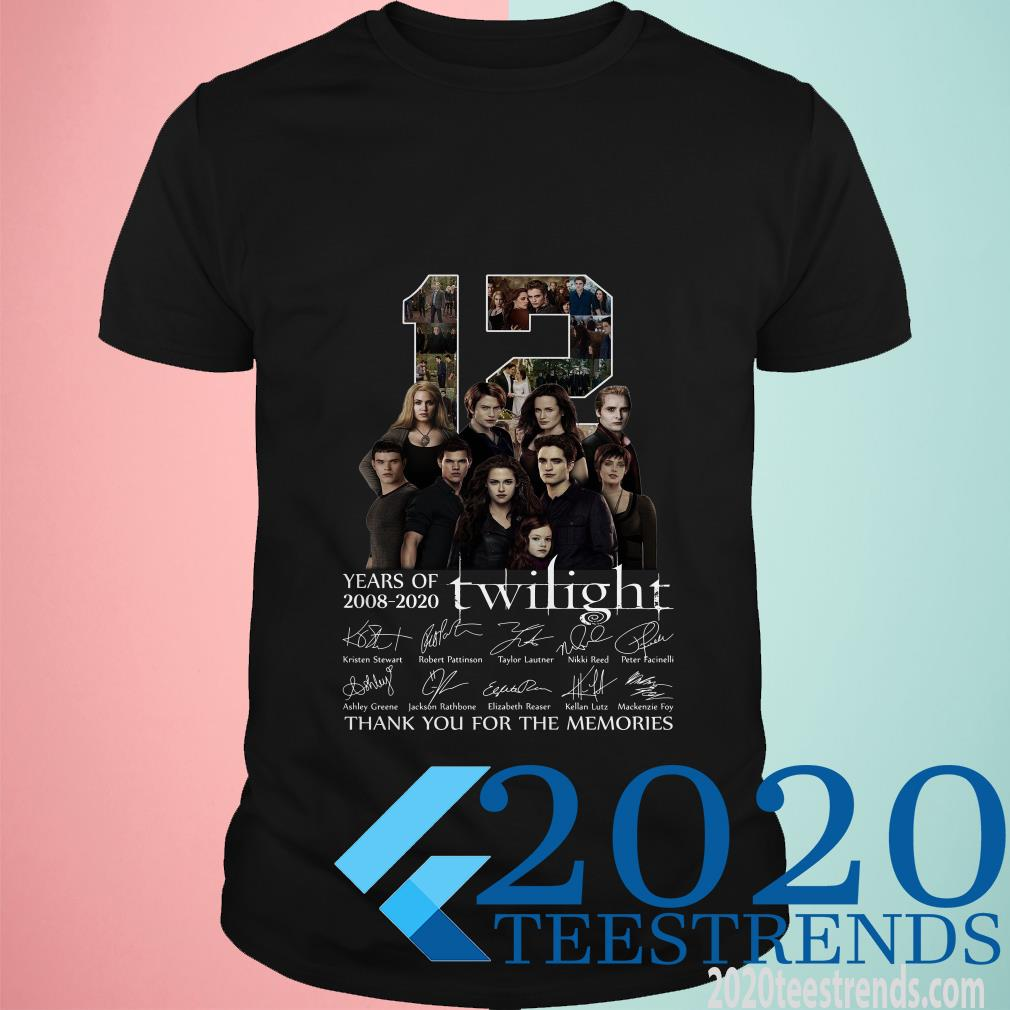 12 Years Of 2008 2020 Twilight Thank You For The Memories Signatures T-Shirt