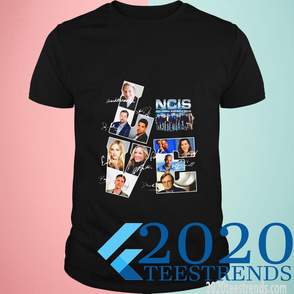 Love Ncis Naval Criminal Investigative Service Tv Movies Signature T-Shirt
