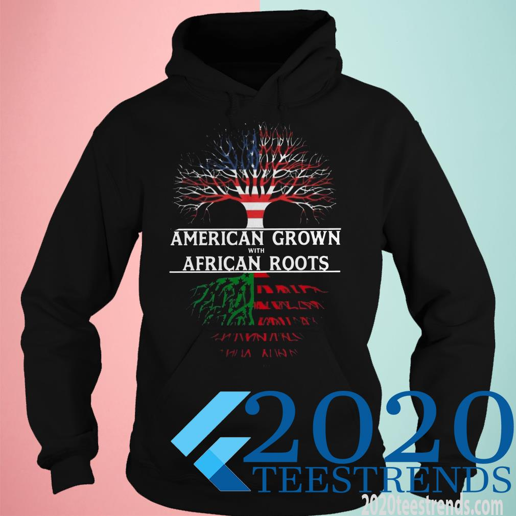 American Grown With African American Flag Roots Shirt