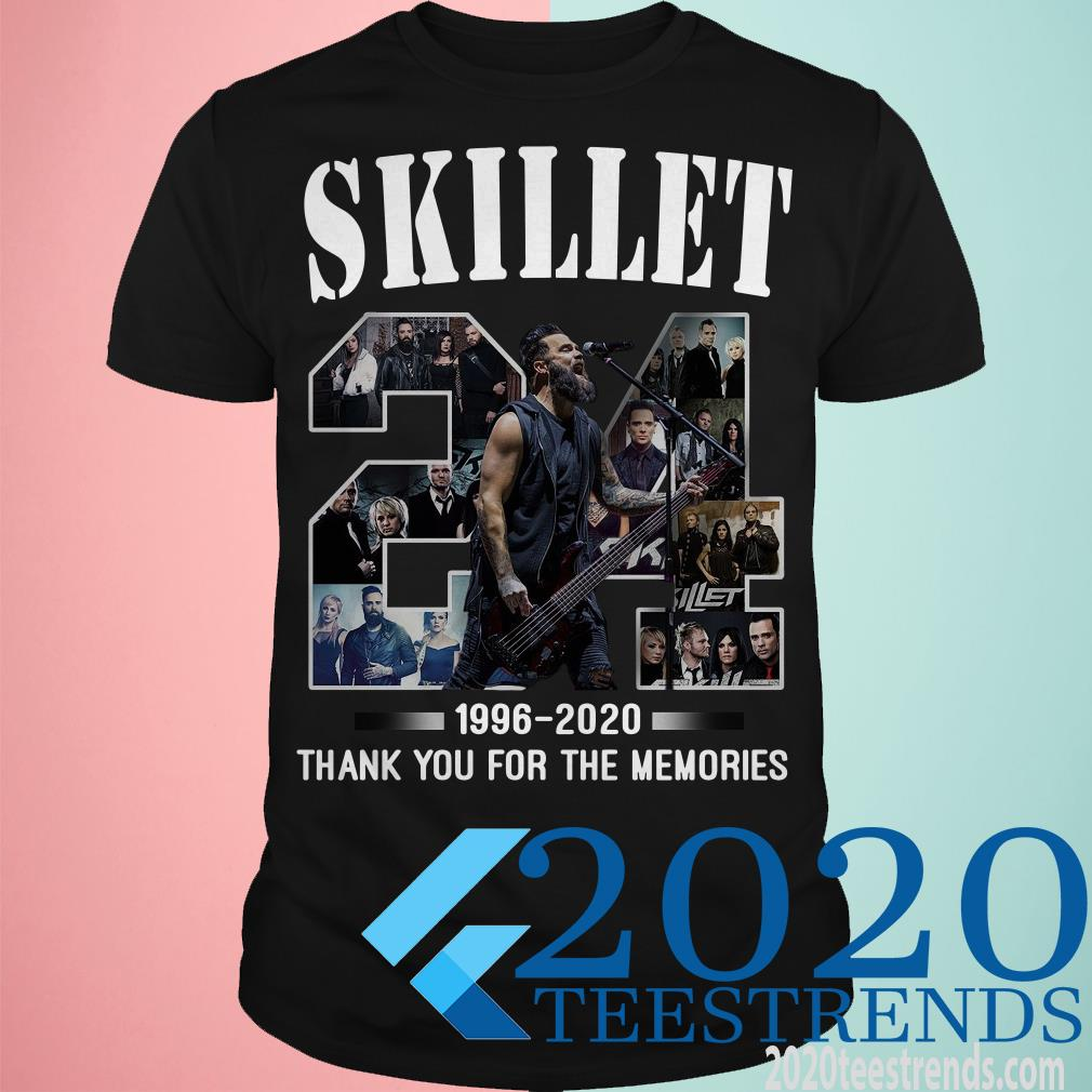 24 Skillet 1996 2020 Thank You For The Memories Shirt