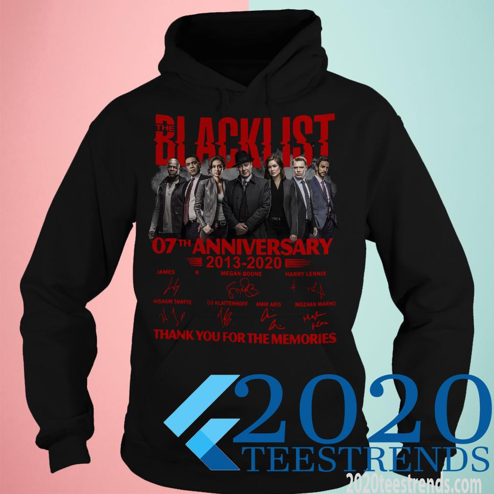 07 Year Of Blacklist Thank You For The Memories Shirt