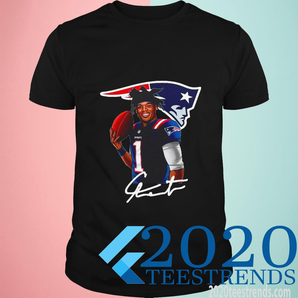 Cam Newton New England Patriots Signature T-Shirt