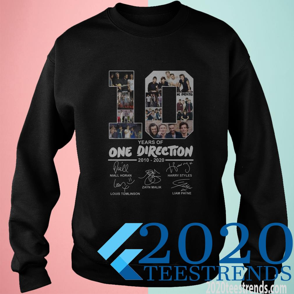 10 Years Of One Direction 2010 2020 Signature T-Shirt