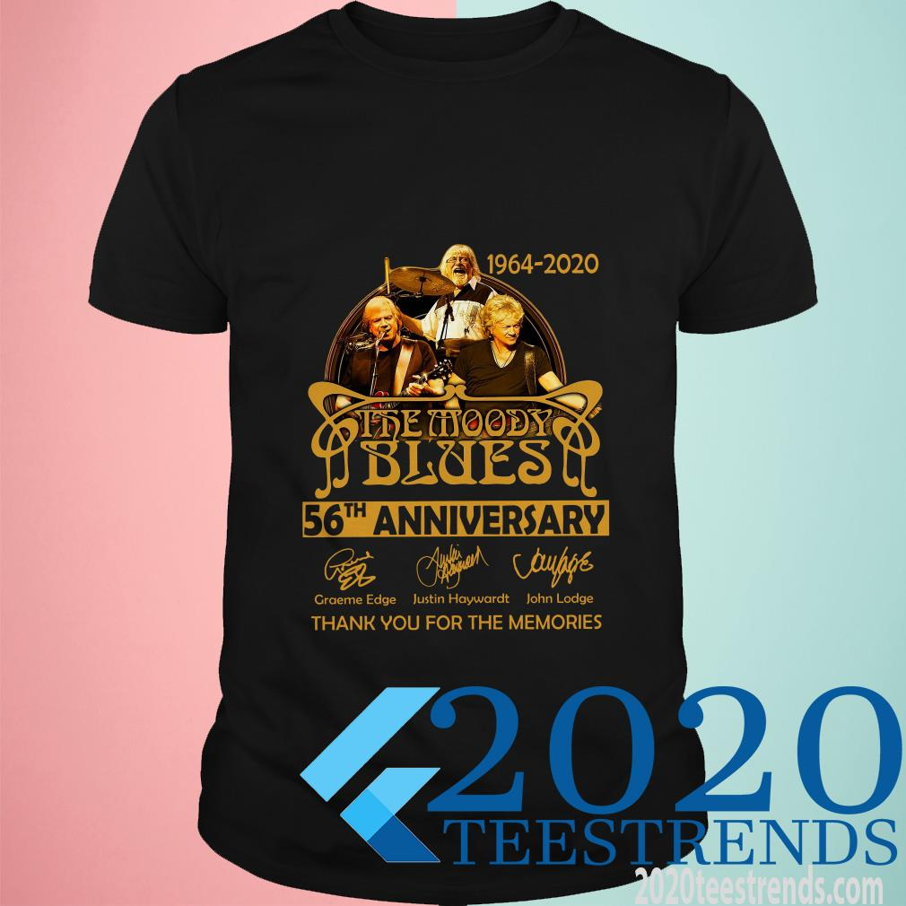 Official The Moody Blues 56th Anniversary 1964-2020 Thank You For The Memories T-Shirt