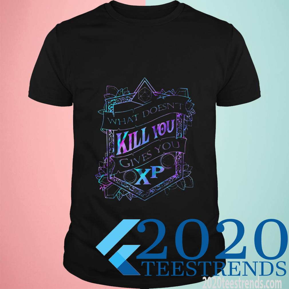 What Doesn't Kill You Gives You Xp D And D T-Shirt