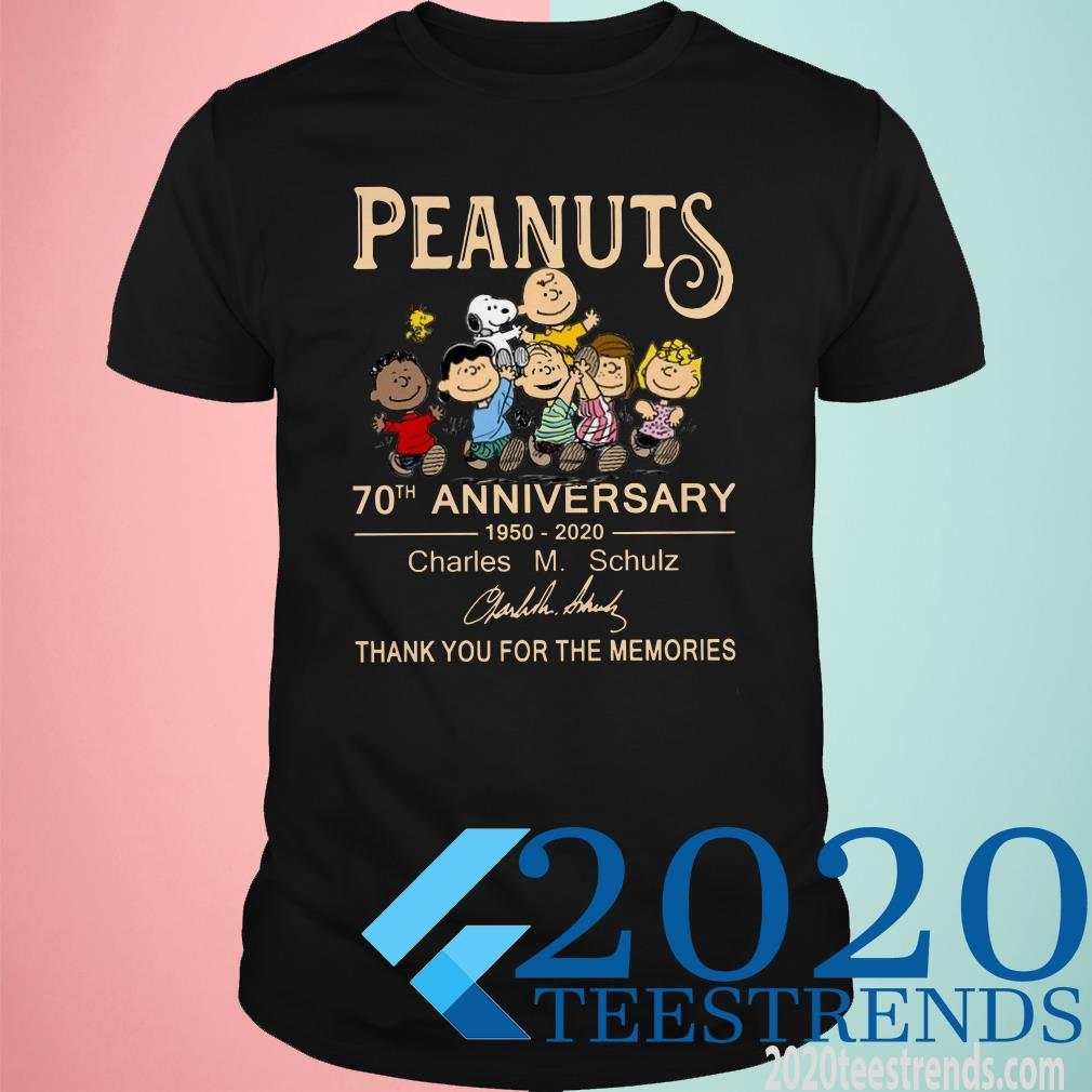 Peanuts 70th anniversary 1950-2020 Charles M.Schulz Thank You For The Memories Shirt