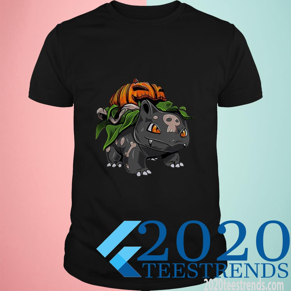 Pokemon Fushigidane Pumpkin Halloween T-Shirt