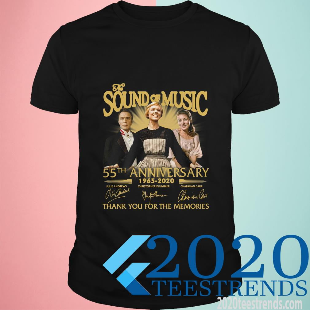 The Sound Of Music 55th Anniversary 1965-2020 Signatures Thank You For The Memories T-Shirt