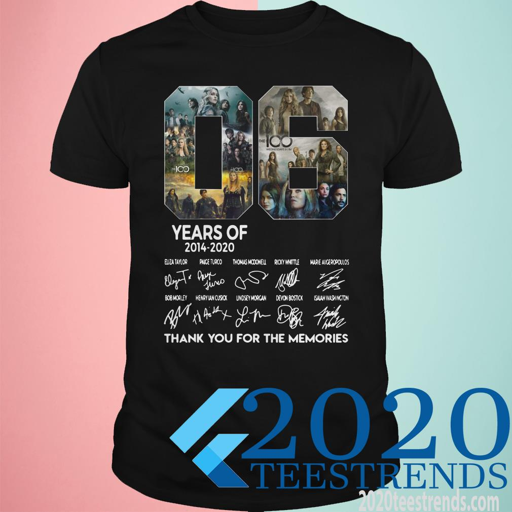 06 Years Of 2014 2020 Thank You For The Memories Signature Shirt