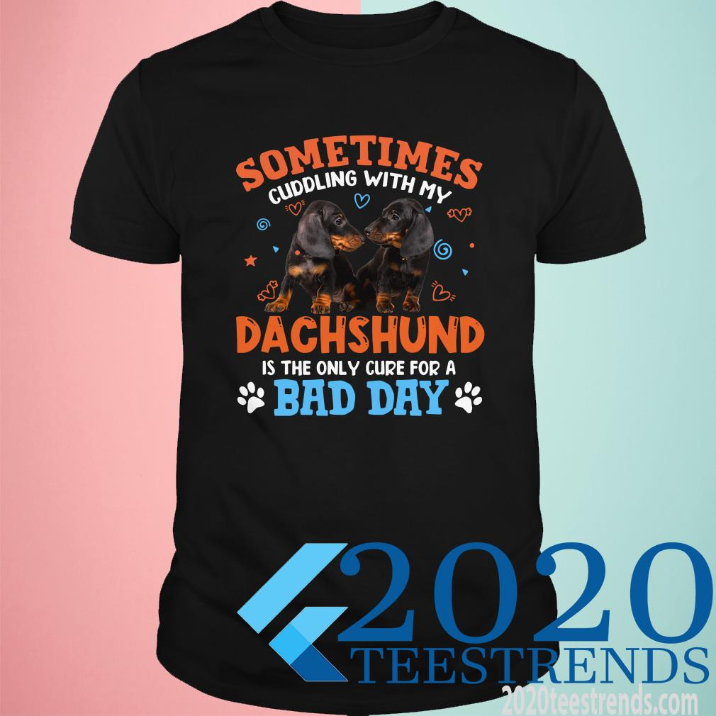 Sometimes Cuddling With My Dachshund Is The Only Cure For A Bad Day Shirt